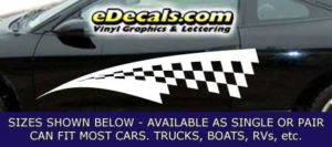 CFG238 Checkered Flag Decal