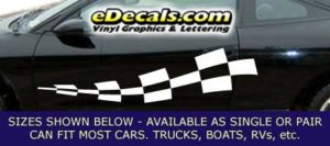 CFG240 Checkered Flag Decal