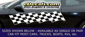 CFG243 Checkered Flag Decal