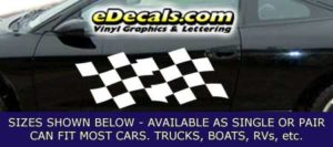 CFG246 Checkered Flag Decal