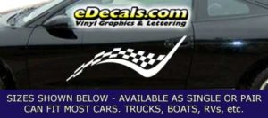 CFG249 Checkered Flag Decal