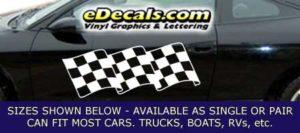 CFG250 Checkered Flag Decal