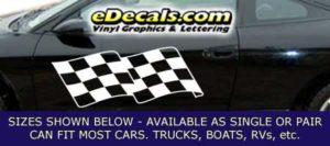 CFG257 Checkered Flag Decal