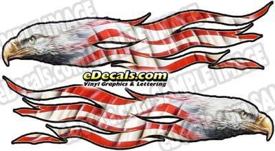 CNF154 Eagle Head Patriotic Decal