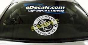 CRT301 Volunteer Firefighter Cartoon Decal