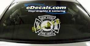 CRT303 Firefighter Shield Cartoon Decal