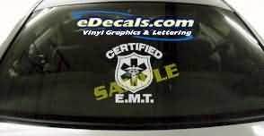 CRT321 Certified E.M.T. EMT Decal