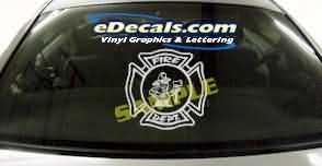 CRT332 Volunteer Firefighter Cartoon Decal