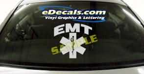 CRT348 EMT Shield Firefighter Cartoon Decal