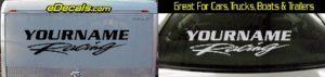 Custom304 Custom YOURNAMEHERE Racing Decal