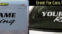 Custom306 Custom YOURNAMEHERE Racing Decal