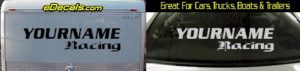 Custom322 Custom YOURNAMEHERE Racing Decal