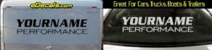 Custom330 Custom YOURNAMEHERE Performance Decal