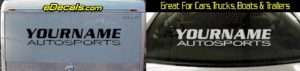 Custom362 Custom YOURNAMEHERE Autosports Decal