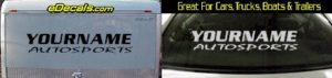 Custom364 Custom YOURNAMEHERE Autosports Decal