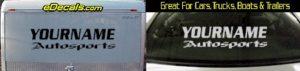 Custom373 Custom YOURNAMEHERE Autosports Decal