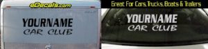 Custom428 Custom YOURNAMEHERE Car Club Decal
