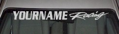 Custom455 Custom YOURNAMEHERE Racing Decal