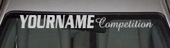 Custom473 Custom YOURNAMEHERE Competition Decal
