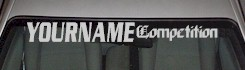 Custom478 Custom YOURNAMEHERE Competition Decal