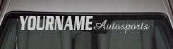 Custom481 Custom YOURNAMEHERE Autosports Decal