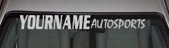 Custom483 Custom YOURNAMEHERE Autosports Decal