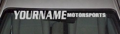 Custom493 Custom YOURNAMEHERE Motorsports Decal
