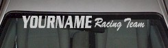 Custom504 Custom YOURNAMEHERE Racing Team Decal
