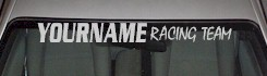 Custom507 Custom YOURNAMEHERE Racing Team Decal