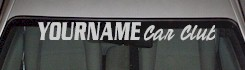 Custom511 Custom YOURNAMEHERE Car Club Decal