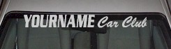 Custom512 Custom YOURNAMEHERE Car Club Decal