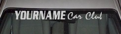 Custom514 Custom YOURNAMEHERE Car Club Decal