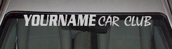 Custom515 Custom YOURNAMEHERE Car Club Decal