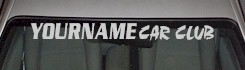 Custom516 Custom YOURNAMEHERE Car Club Decal