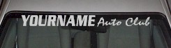 Custom522 Custom YOURNAMEHERE Auto Club Decal