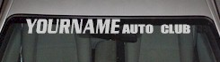 Custom525 Custom YOURNAMEHERE Auto Club Decal