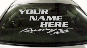 Custom550 Custom YOURNAMEHERE Racing Decal