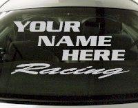 Custom552 Custom YOURNAMEHERE Racing Decal