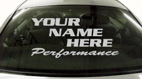 Custom558 Custom YOURNAMEHERE Performance Decal