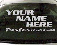 Custom559 Custom YOURNAMEHERE Performance Decal