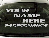 Custom560 Custom YOURNAMEHERE Performance Decal