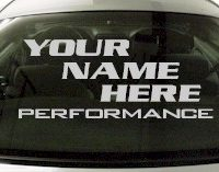 Custom561 Custom YOURNAMEHERE Performance Decal