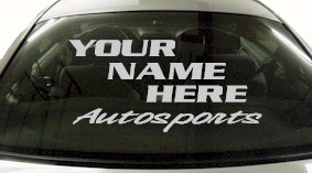 Custom566 Custom YOURNAMEHERE Competition Decal