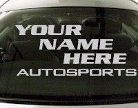 Custom567 Custom YOURNAMEHERE Autosports Decal
