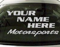Custom568 Custom YOURNAMEHERE Motorsports Decal
