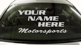 Custom569 Custom YOURNAMEHERE Motorsports Decal