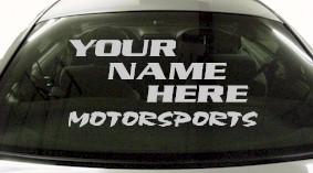 Custom570 Custom YOURNAMEHERE Motorsports Decal