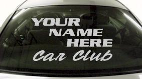 Custom583 Custom YOURNAMEHERE Car Club Decal