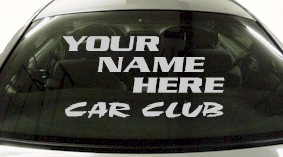 Custom585 Custom YOURNAMEHERE Car Club Decal
