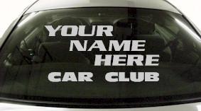 Custom587 Custom YOURNAMEHERE Car Club Decal